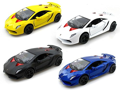 Set of 4 - Lamborghini Sesto Elemento 1/38 (Die Cast Sesto Elemento compare prices)