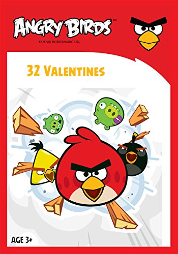 Paper Magic 32CT Showcase Angry Birds Kids Classroom Valentine Exchange Cards - 1