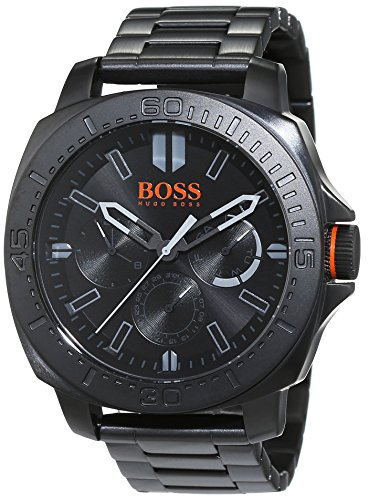 Boss Orange Men's Watch Sao Paulo Multieye Analogue Quartz Stainless Steel Black Coated 1513252