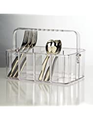 Clear Flatware Caddy by US+Acrylic+LLC