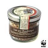 HAMBURGER SEASONING (Whole Natural Sea Salt, Herbs & Spices) from Trapani Salt Pans WWF NATURAL RESERVE by Vincenzo Gucciardo 90g - BBQ meat seasoning