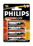 Philips PowerLife LR6 1.5V AA Alkaline Batteries (4 Pack)
