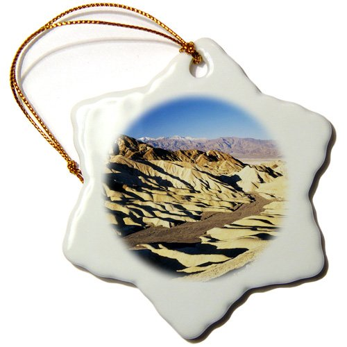 Orn_142548_1 Danita Delimont - Deserts - Telescope Peak, Death Valley, California, Usa - Us05 Aje0067 - Adam Jones - Ornaments - 3 Inch Snowflake Porcelain Ornament