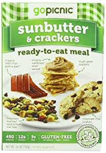 GoPicnic Ready-to-Eat Meals Sunbutter & Crackers 3.6 ox boxes (Pack of 6)