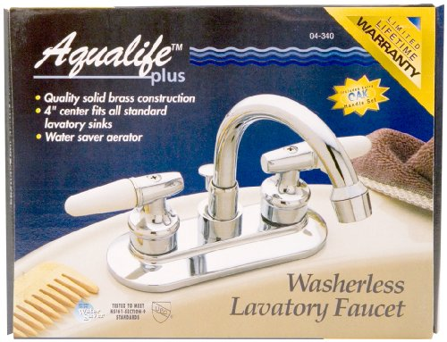 Waxman 415300 2-Handle Standard Laundry Faucet, Polished Brass