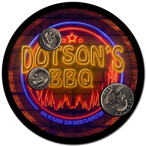 Dotson'S Barbeque Drink Coasters - 4 Pack