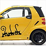 Chat, Chats ,ca.30 cm Mod.Nr. 18 autocollant Vinyle Décalque sticker pegatina ,voiture,Stickers, auto car tuning racing - MADE IN GERMANY -
