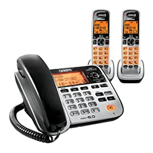 Uniden D1688-2 Cordless Phone/Answering System with Base and 2 Handsets
