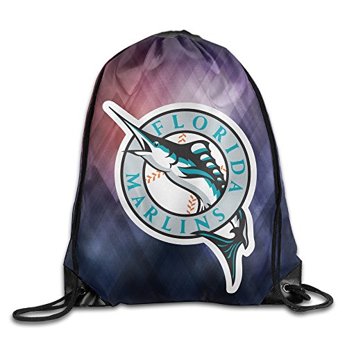 [YYHU The Florida Marlins Drawstring Backpack Bag Sack Bag - Great For Travel And Everyday Life] (Tony Hawk Halloween Costume)