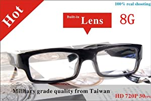 2013 High Quality Flexible1280x720p Hd Spy Glasses Camera Built in 8gb Undectable Lens