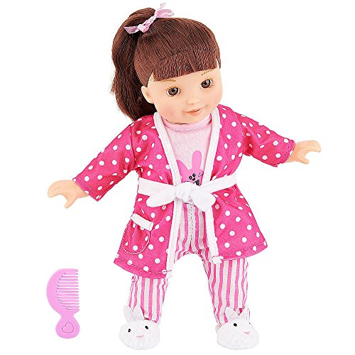 You & Me Friends 14 Inch Doll - Brown Ponytail (Pink Pajama Set) front-884052