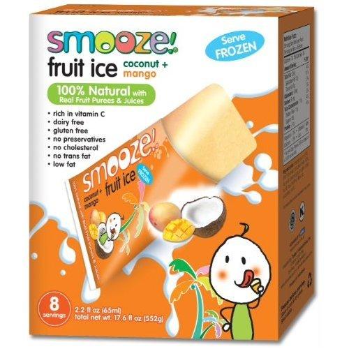 Smooze Fruit Ice Coconut with Mango 17.6 oz. (Pack of 12)
