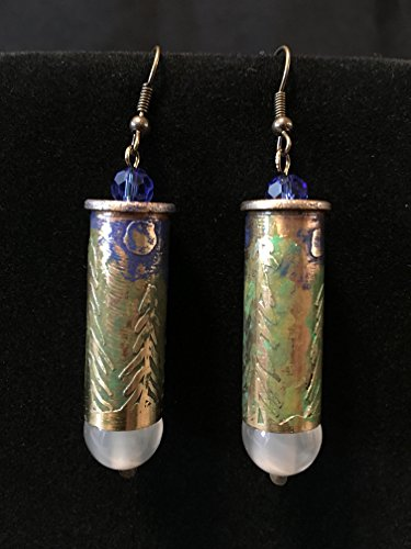 44 Caliber Etched Earrings- Moonlight Glow (44 Cal Bullets compare prices)