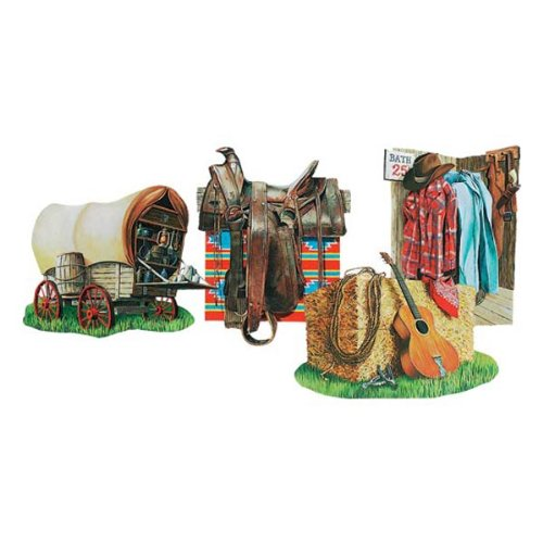 Cowboy Cutouts Party Accessory (1 count) (4/Pkg) - 1