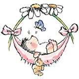 Penny Black Mounted Rubber Stamp 3 inch x 325 inch Baby Hammock