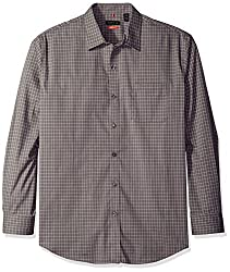 Van Heusen Men's Long Sleeve Traveler Stretch Non Iron Shirt, Grey Mirage, Large
