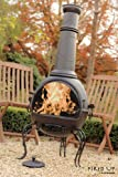 La Hacienda: Murcia Extra Large Steel Chiminea BBQ