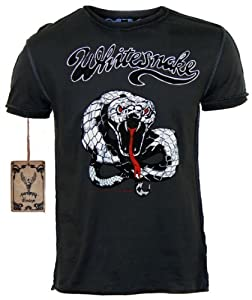 Original AMPLIFIED Vintage Look Herren T-Shirt WHITE SNAKE Dunkelgrau Gr. S