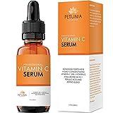BEST ORGANIC Vitamin C Serum 20% for Face With Vit E + Hyaluronic Acid + Ferulic Acid - Helps Repair Sun Damaged Skin - Anti Aging Serum Reduces Wrinkles + Fade Dark and Brown Spots, 1 fl. oz.
