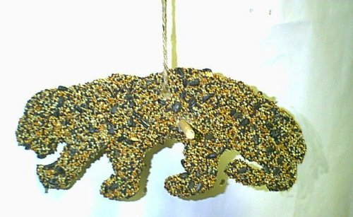 Edible Leopard Bird Seed Ornament Cookie Hanger