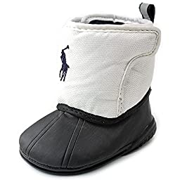 Ralph Lauren Layette Albirta EZ Snow Boot (Infant/Toddler),White,1 M US Infant