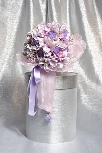 materashop.it - Bouquet per Sposa Ortensia Viola 9 fiori Swarovski, Matrimonio,Gioiello