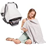 2 In 1 Nursing Scarf Cover Up Apron For Breastfeeding & Baby Car Seat Cover - Universal Fit For Newborns, Infants...