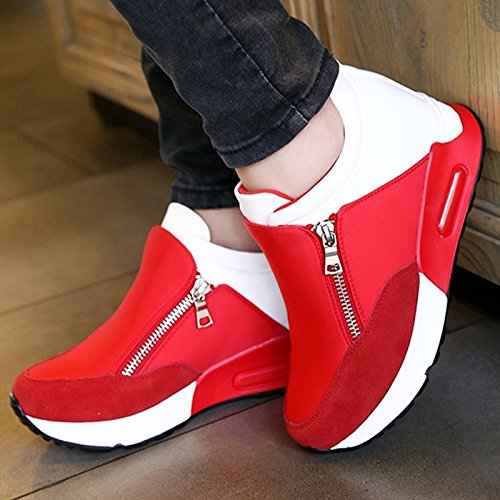 Women Shoes Air Shoes Sneakers Sports Shoes Black/White Colors, Running Hiking Shoes Thick Bottom Platform Shoes