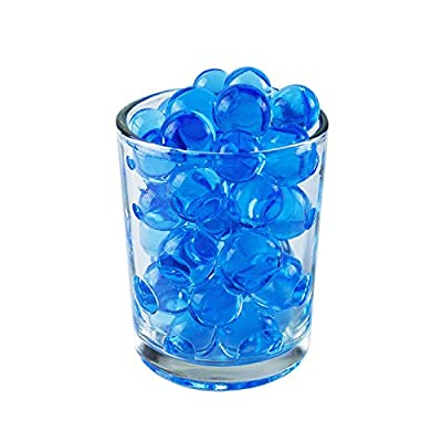 1 Pound Bag of Blue Water Gel Beads Pearls for Vase Filler, Candles, Wedding Centerpiece, Home Decoration, Plants, Toys, Education. Makes 12 Gallons. by Super Z Outlet