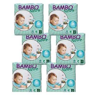 Bambo Nature Premium Eco-Friendly Diapers, 5 Junior 27 ea