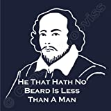 Shakespeare Beard Quote Hoody Much Ado About Nothing