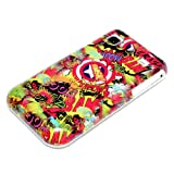 DeinPhone Comic Boom Hardcase Cover Bumper for Samsung Galaxy S i9000 i9001 Plus + - Red