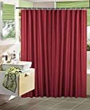 "Garden Home Shower Curtain with Hooks No More Mildew 72"" X 72"" (Burgundy)"