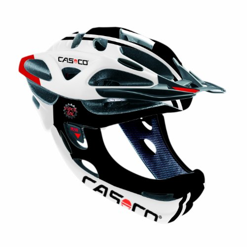 Casco CAS168 - Casco da ciclismo unisex adulto, colore: nero/bianco/rosso