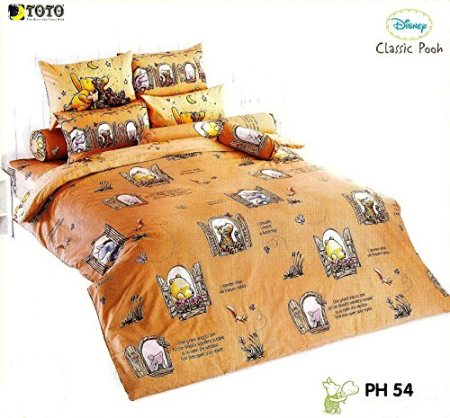 Disney Classic Pooh Bedding In Bag Set ; 1 Four Season Comforter With 4 Pieces Of Bed Fitted Sheet Set (Queen Size, Ph54) front-155583