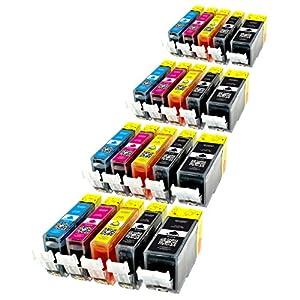 20 Patronen MIT CHIP kompatibel zu PGI-525BK , CLI-526C , CLI-526M , CLI-526Y und CLI-526BK