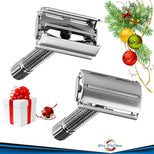 Drs PrChoice Best Silver Double Edge Classic Butterfly Safety Shaving Razor Kit At A Fair Price.