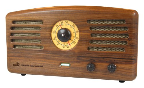 Tesslor R601SW Stereo Tube AM/FM Radio, Bluetooth 3.0 Streaming, Incredible Tube Amplified Sound, Vintage Radio, Solid Walnut Cabinet