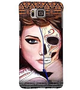 PrintVisa Stylish Cool Girl Modern Art 3D Hard Polycarbonate Designer Back Case Cover for Samsung Galaxy Alpha