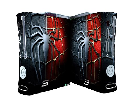 Bundle Monster Vinyl Skins Accessory For Xbox 360 Game Console - Cover Faceplate Protector Sticker Art Decal - Spiderman