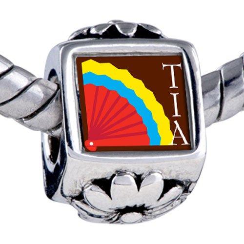 Pugster Bead Multicolored Tia Fan Beads Fits Pandora Bracelet