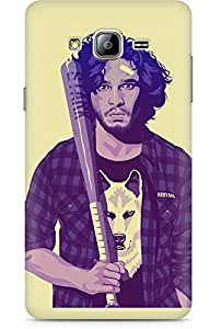 Amez designer printed 3d premium high quality back case cover for Samsung Galaxy ON5 (Jon Snow)
