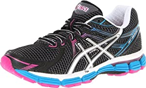 ASICS Women's GT-2000 Running Shoe,Black/White/Electric Blue,8 B US