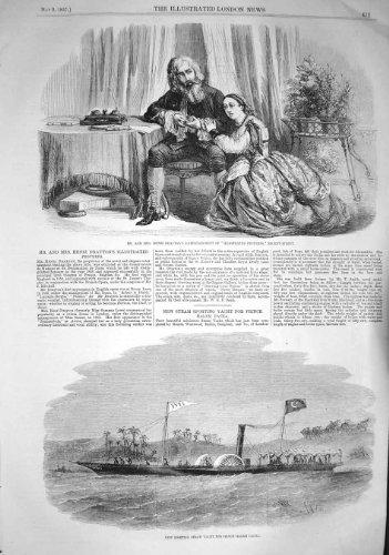 1857 HENRI DRAYTON SPORTING STEAM YACHT PRINCE PACHA