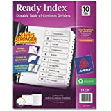 Avery Ready Index Table of Contents Dividers, White, 10 Tabs, 1 Set (11134)