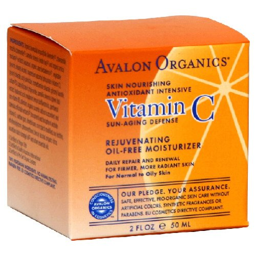 Avalon Organic Botanicals, Oil-Free Moisturizer, Rejuvenating, Vitamin C, 2 oz