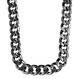 Iced Out Bling Hip Hop CUBAN CURB CHAIN - 10mm black