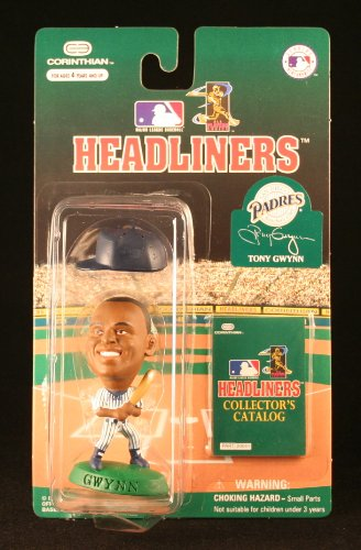 TONY GWYNN / SAN DIEGO PADRES * 3 INCH * 1996 MLB Headliners Baseball Collector Figure