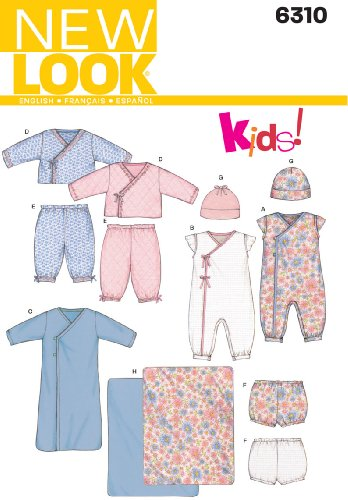 New Look Sewing Pattern 6310 Babies Separates, Size A (Nb-S-M-L) front-228370