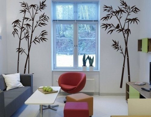Hotportgift Bamboo Mural Home Decor Decals Decorative
